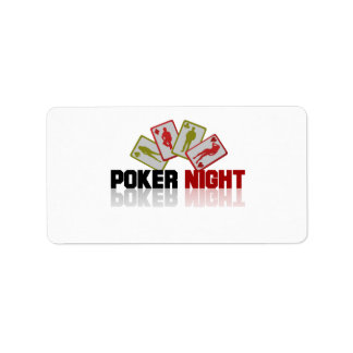 Poker Casino Label