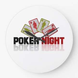 Poker Casino Large Clock
