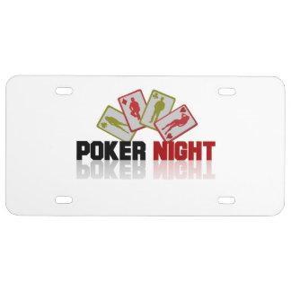 Poker Casino License Plate