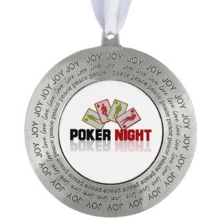 Poker Casino Pewter Ornament