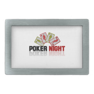 Poker Casino Rectangular Belt Buckle