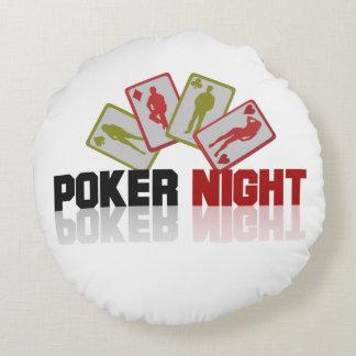 Poker Casino Round Pillow