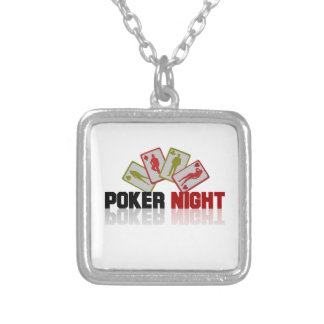 Poker Casino Silver Plated Necklace