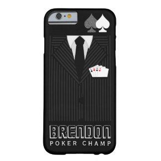 Poker Champ Pinstripe Suit Casino iPhone 6 6S Case