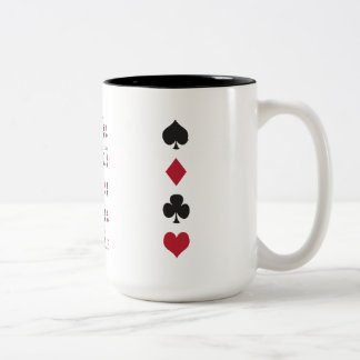 Poker Cheat Sheet Two-Tone Coffee Mug