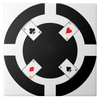Poker Chip - Black Ceramic Tile
