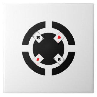 Poker Chip - Black Ceramic Tiles