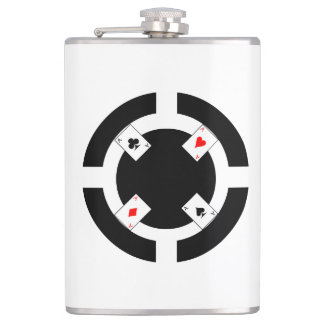 Poker Chip - Black Hip Flask