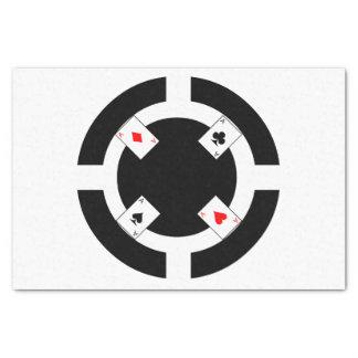 Poker Chip - Black Tissue Paper
