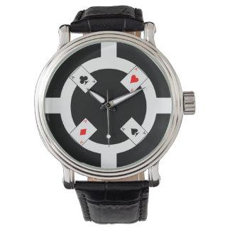 Poker Chip - Black Watches