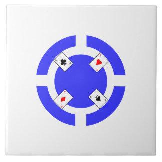 Poker Chip - Blue Ceramic Tiles