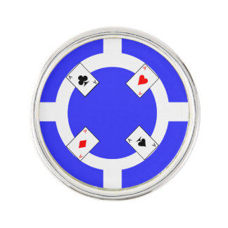 Poker Chip - Blue Lapel Pin