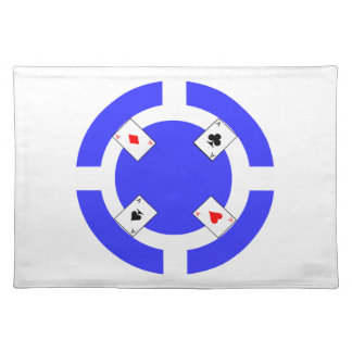 Poker Chip - Blue Placemat
