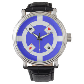 Poker Chip - Blue Watches