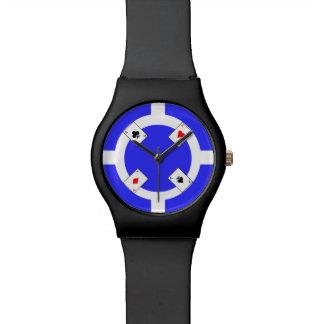 Poker Chip - Blue Wrist Watches