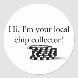 Poker chip collector stickers