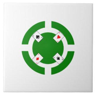 Poker Chip - Green Ceramic Tiles