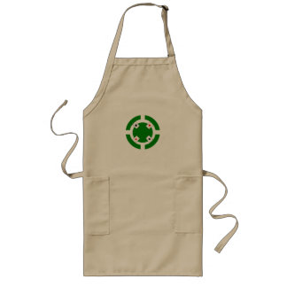 Poker Chip - Green Long Apron