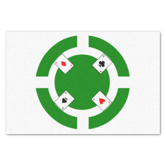 Poker Chip - Green Tissue Paper