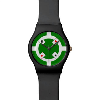 Poker Chip - Green Watch