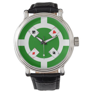 Poker Chip - Green Wrist Watches