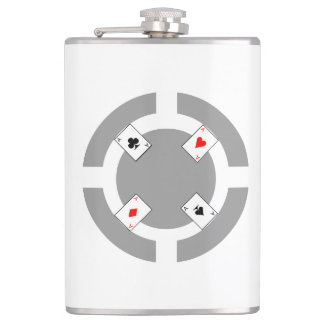 Poker Chip - Grey Hip Flask