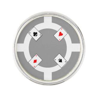Poker Chip - Grey Lapel Pin