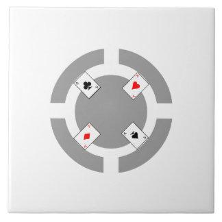 Poker Chip - Grey Tile