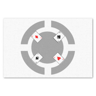 Poker Chip - Grey Tissue Paper