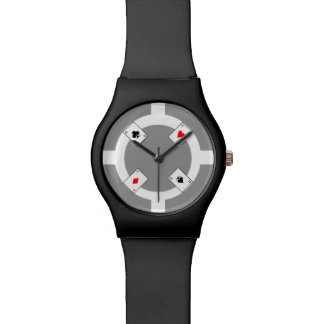 Poker Chip - Grey Wristwatch