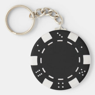 poker chip key chain black