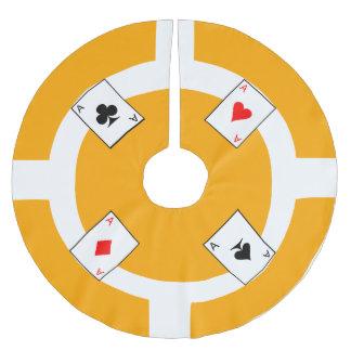 Poker Chip - Orange Brushed Polyester Tree Skirt