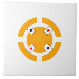 Poker Chip - Orange Ceramic Tiles