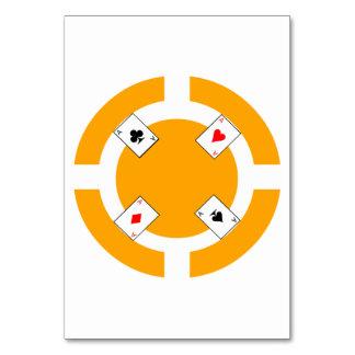 Poker Chip - Orange Table Card