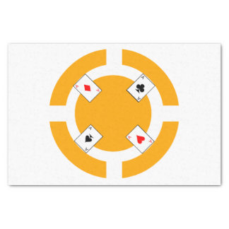 Poker Chip - Orange Tissue Paper