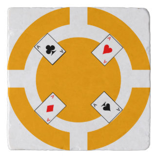 Poker Chip - Orange Trivet