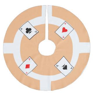 Poker Chip - Peach Brushed Polyester Tree Skirt