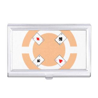 Poker Chip - Peach Business Card Holder