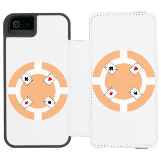 Poker Chip - Peach Incipio Watson™ iPhone 5 Wallet Case