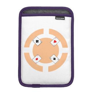 Poker Chip - Peach iPad Mini Sleeves