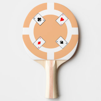 Poker Chip - Peach Ping Pong Paddle