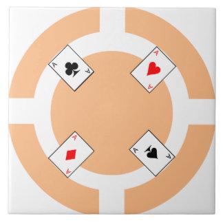 Poker Chip - Peach Tile