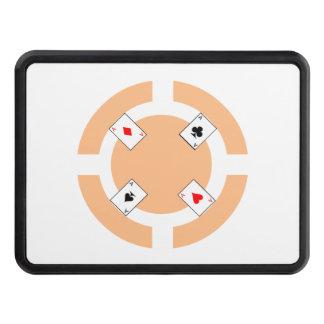 Poker Chip - Peach Trailer Hitch Cover