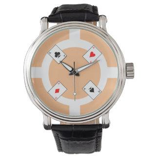 Poker Chip - Peach Wrist Watch