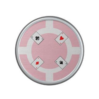 Poker Chip - Pink Speaker