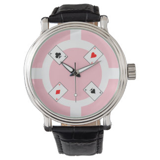 Poker Chip - Pink Watch