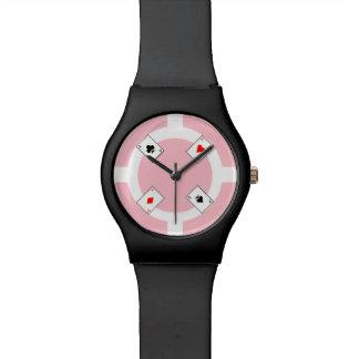 Poker Chip - Pink Wristwatch
