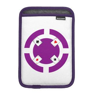 Poker Chip - Purple iPad Mini Sleeve