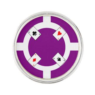Poker Chip - Purple Lapel Pin
