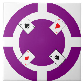 Poker Chip - Purple Tile